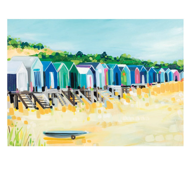 Beach Huts Postcard