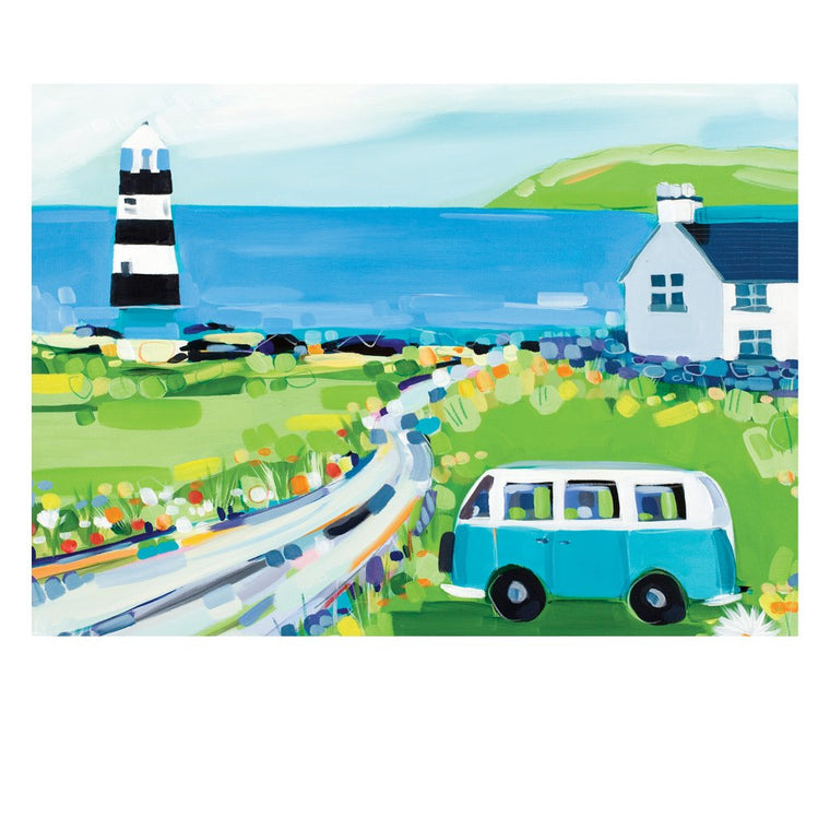Picnic at the Lighthouse Postcard