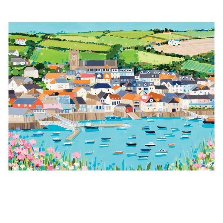 Salcombe Postcard by Janet Bell