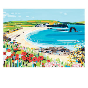 Thurlestone Beach Postcard by Janet Bell
