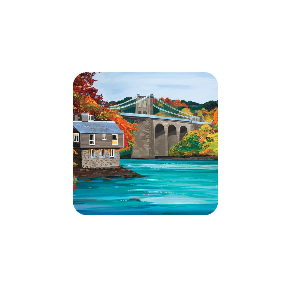 Janet Bell Coaster - Autumn Bridge