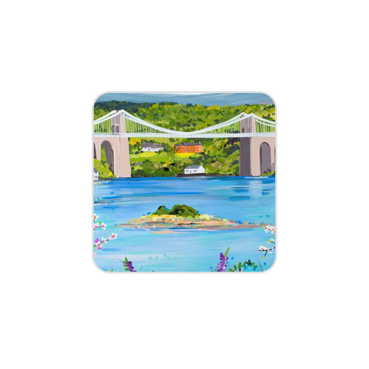 Menai Bridge in Spring Coaster by Janet Bell