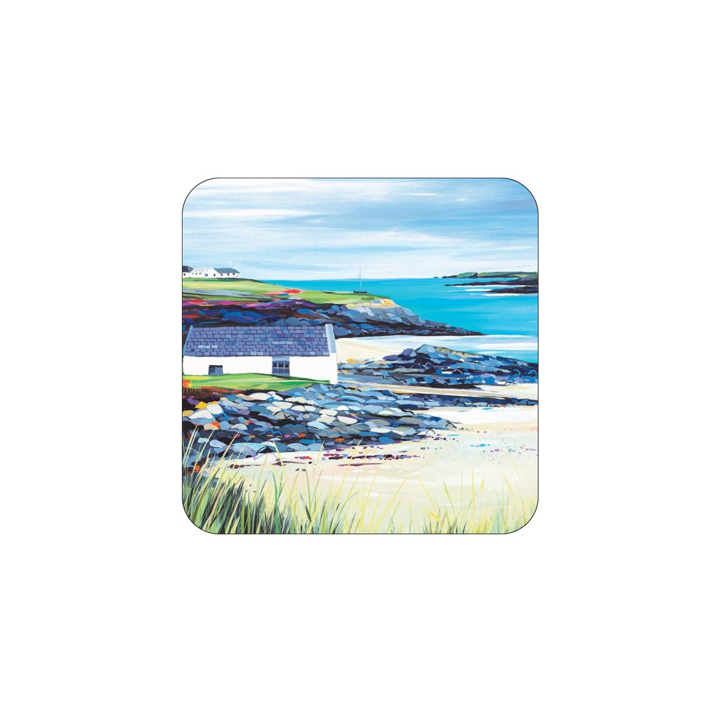 Trearddur Slipway Coaster by Janet Bell
