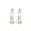 One & Eight Gold Raindrop Hoop Earrings