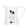 Porcelain Jug - Naked Couple Back
