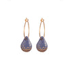 One & Eight Blue & Gold Raindrop Earrings