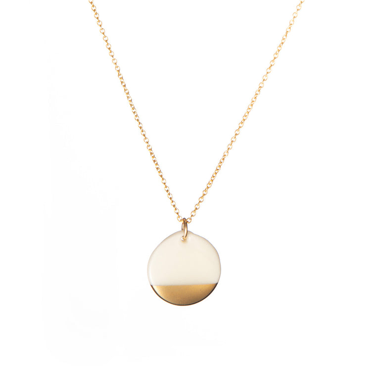 One & Eight Gold Dipped Necklace