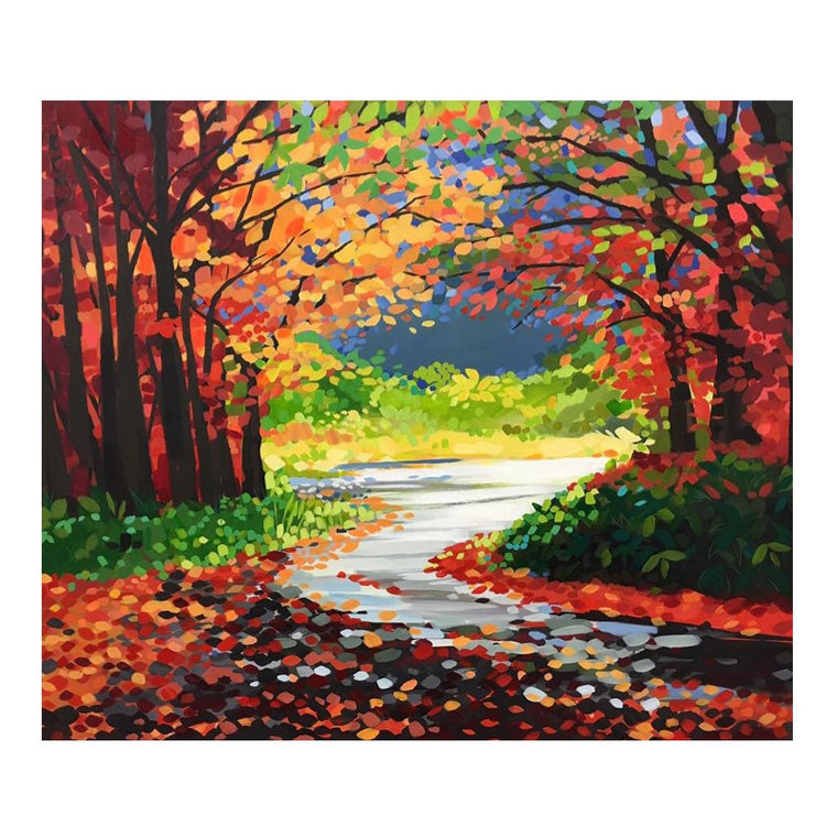 Autumn Leaves - Original Painting by Janet Bell