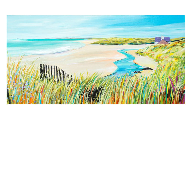 Broad Beach Stream - Original Painting by Janet Bell