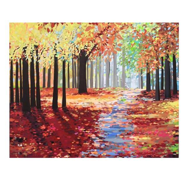 Autumn Path by Janet Bell