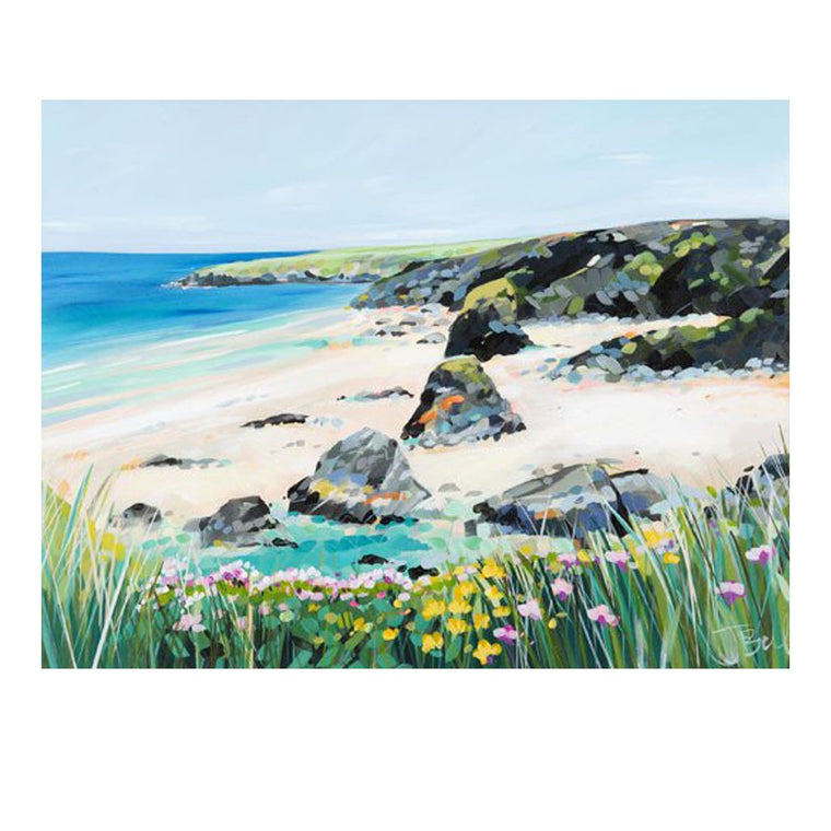 Bedruthan Steps by Janet Bell