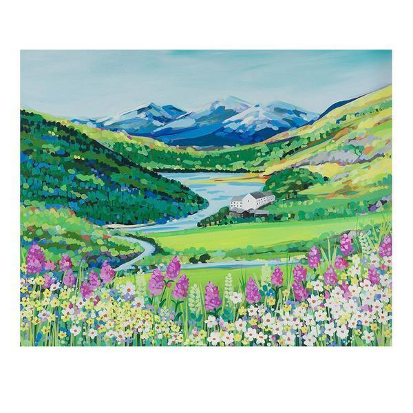 Snowdon Flowers (Limited edition canvas)