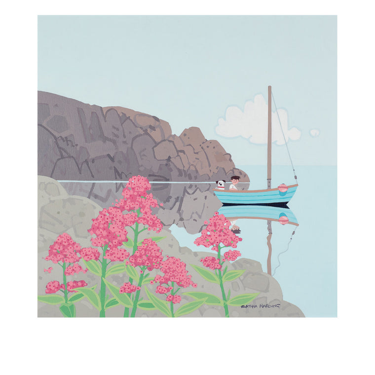Red Valerian, Trearddur Bay - Limited Edition Print on Paper