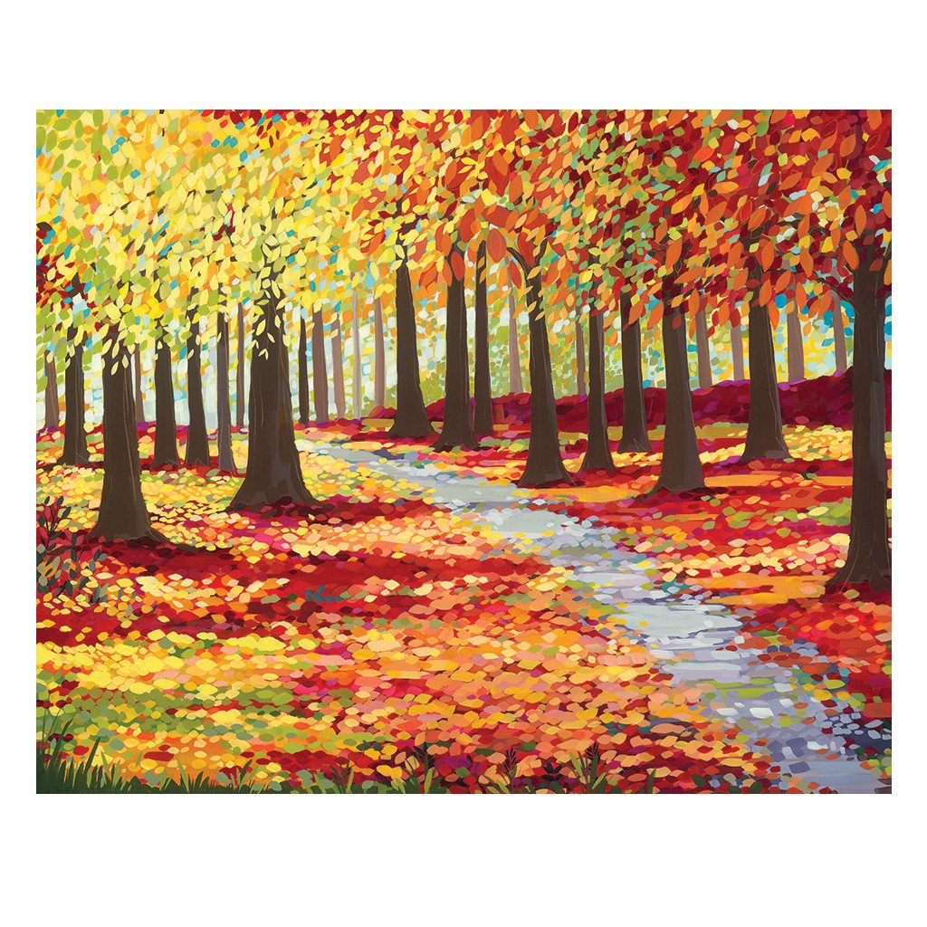 Autumn Wood - Original Painting by Janet Bell