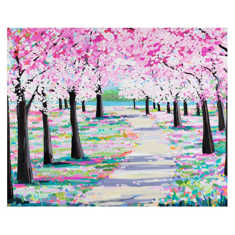 Blossom Path - Original Painting by Janet Bell