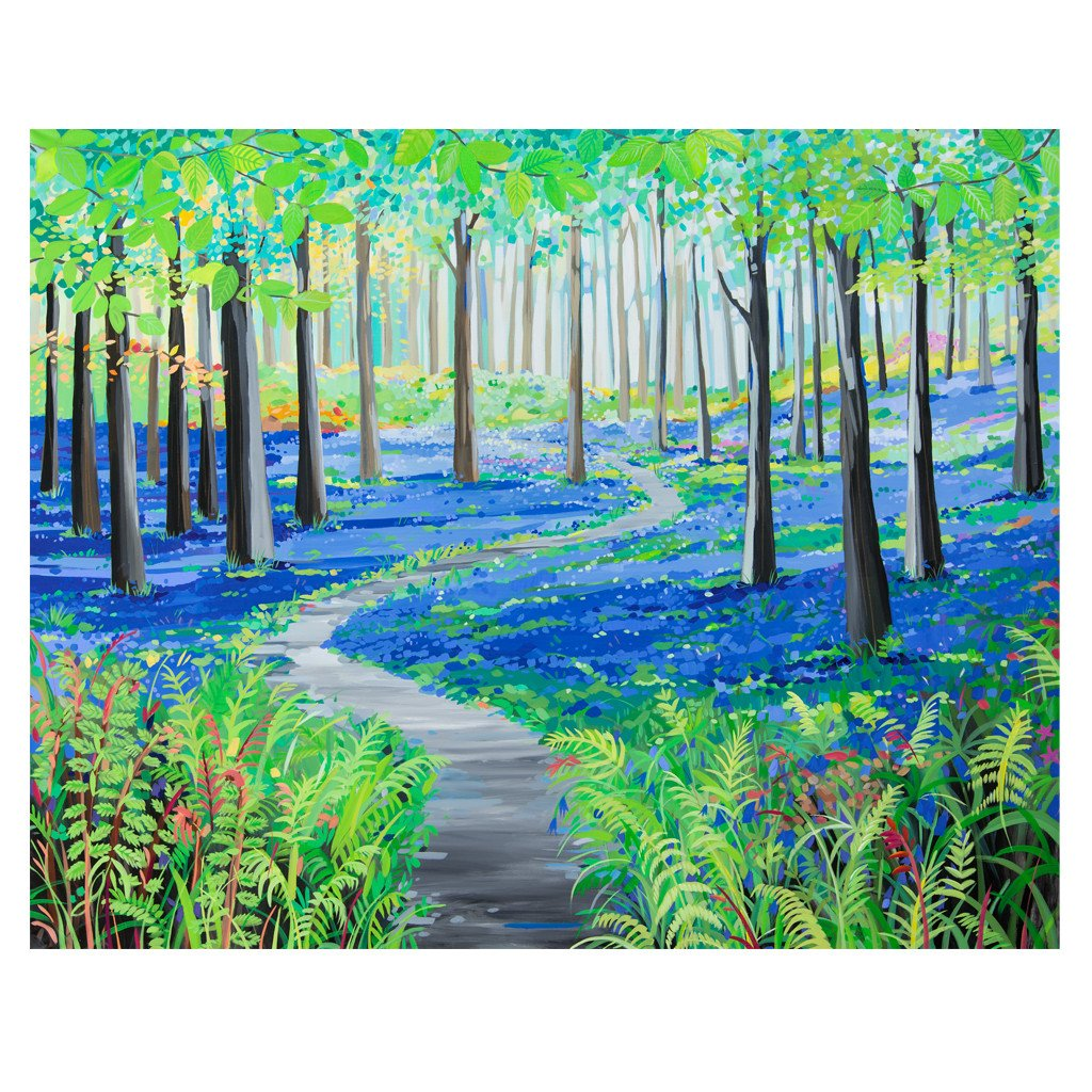 Bluebell Days- Original Painting by Janet Bell