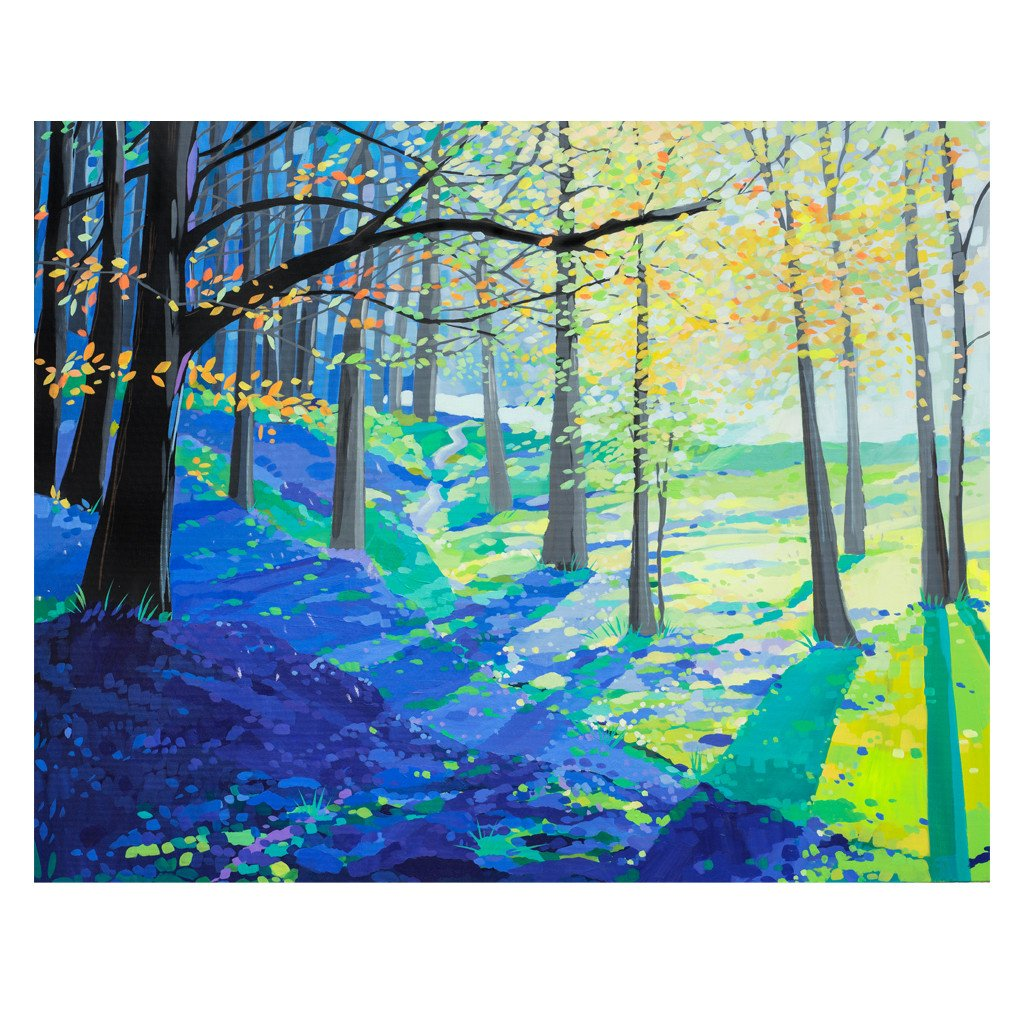 Bluebell Wonderland - Original Painting by Janet Bell