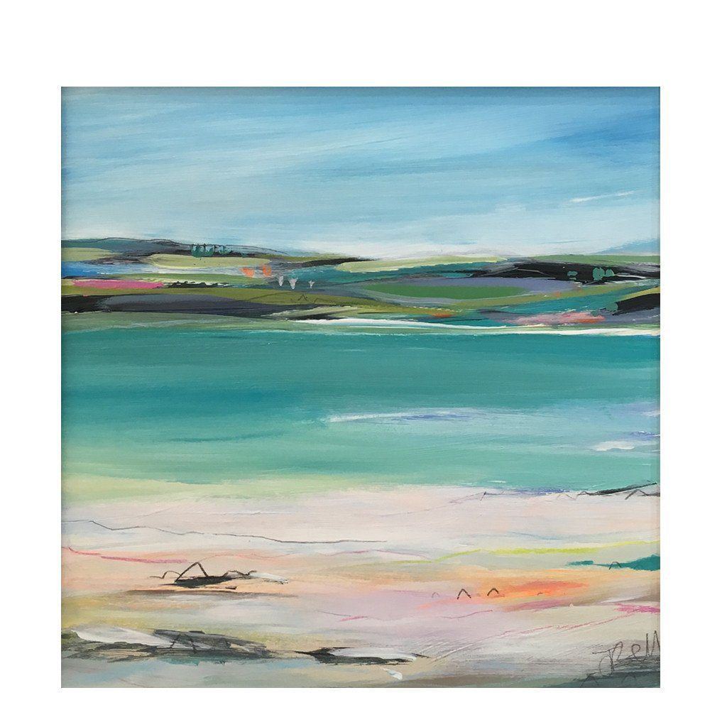 Coral Beach - Original Painting by Janet Bell