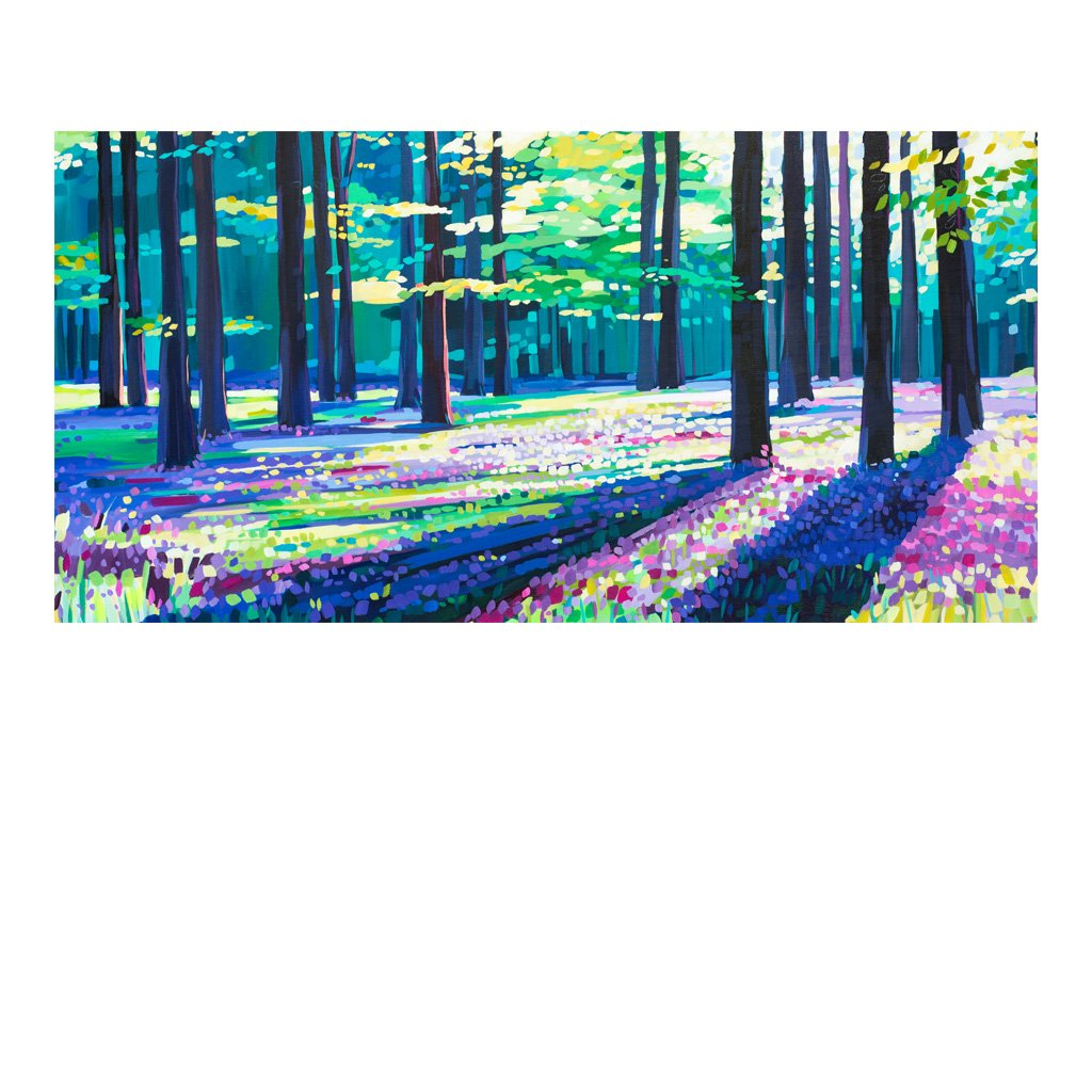 Beaumaris Bluebells - Original Painting by Janet Bell