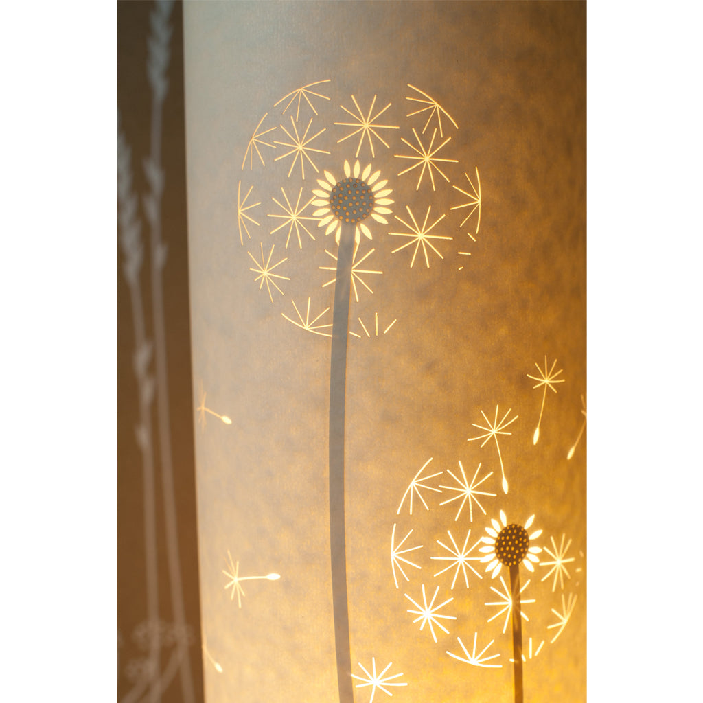 Tall Cylindrical Table Lamp - Dandelion Clock