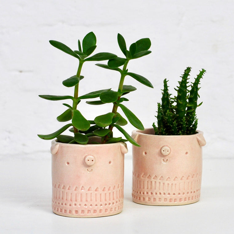 Mini Pig Pot - Soft Pink