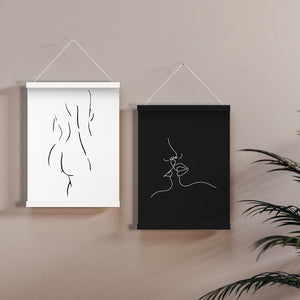 Magnetic Print Frames - A2 Black (Medium)