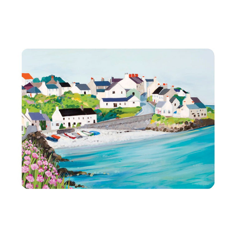 Moelfre Seapinks Placemat by Janet Bell