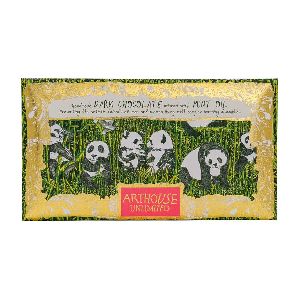 Chocolate Bar Panda Party - Dark Chocolate & Mint