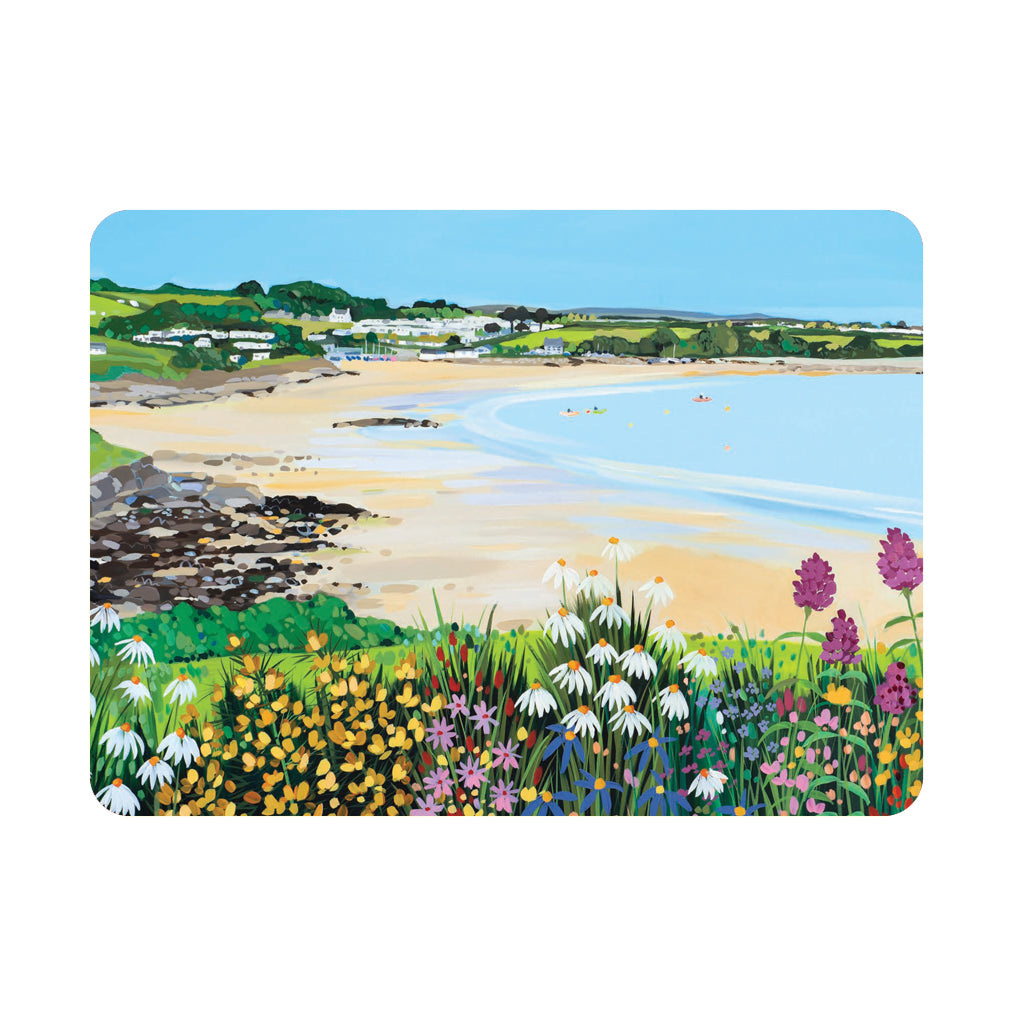 Janet Bell Traeth Bychan Flowers - Single placemat