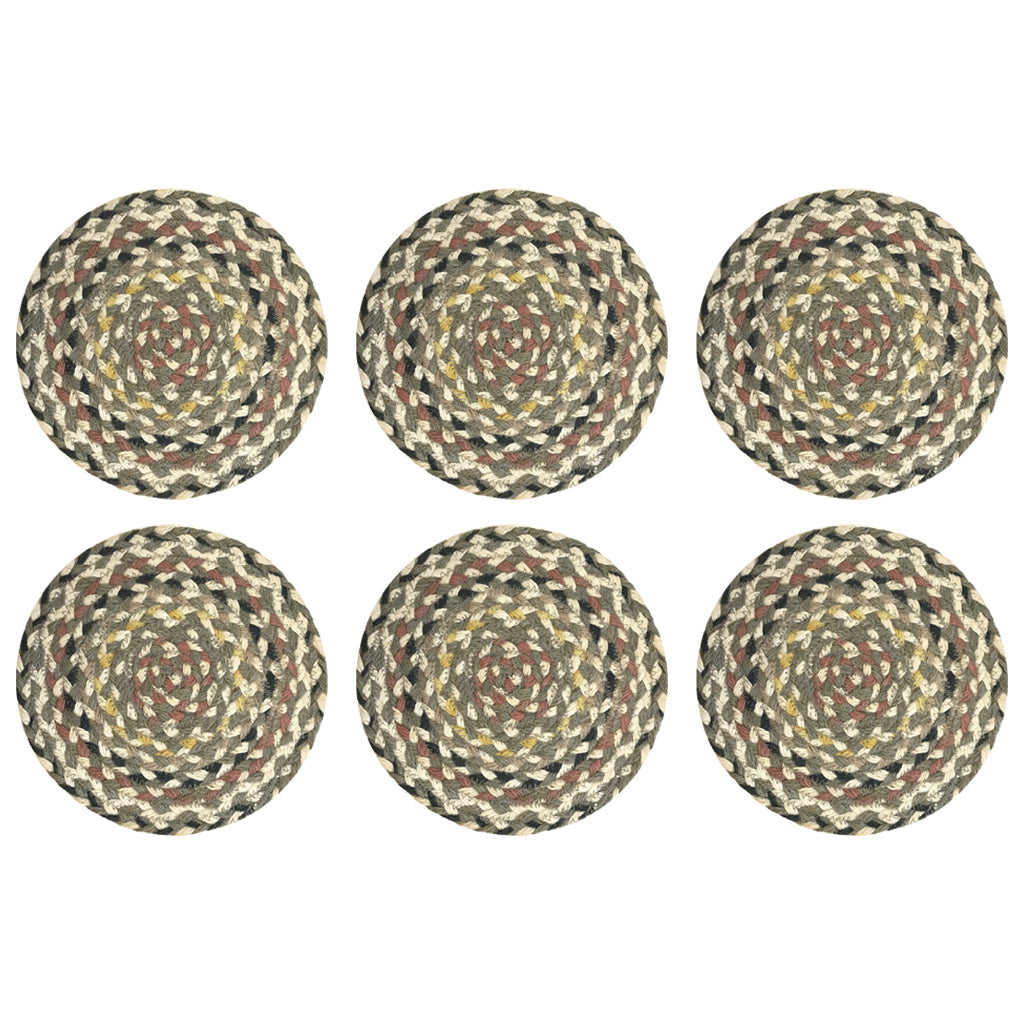 Placemats in a Basket - Granite