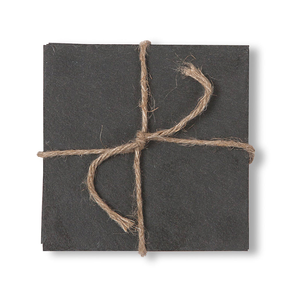 Coasters Tied with String - Slate