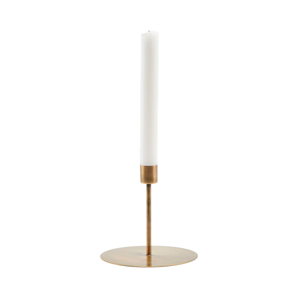 Anit Candle Stand - Short Antique Brass