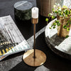 Anit Candle Stand - Tall Antique Brass