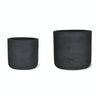 Stratton Tapered Plant Pots - Carbon