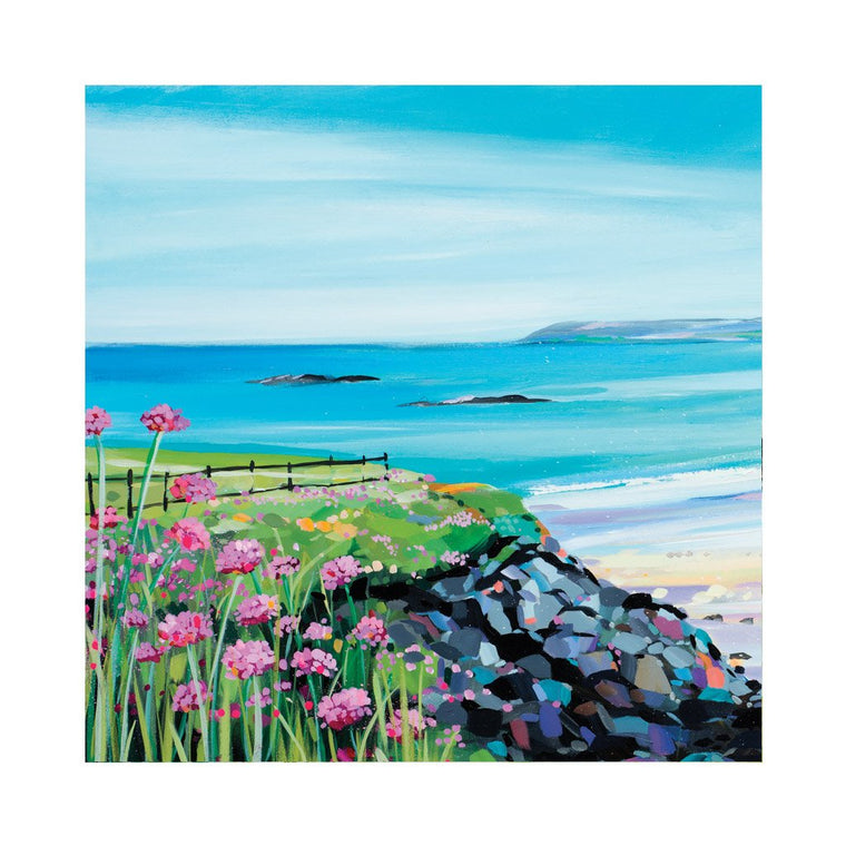 Seapinks at Sandy Beach Card