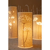 Small Cylindrical Table Lamp - Cow Parsley