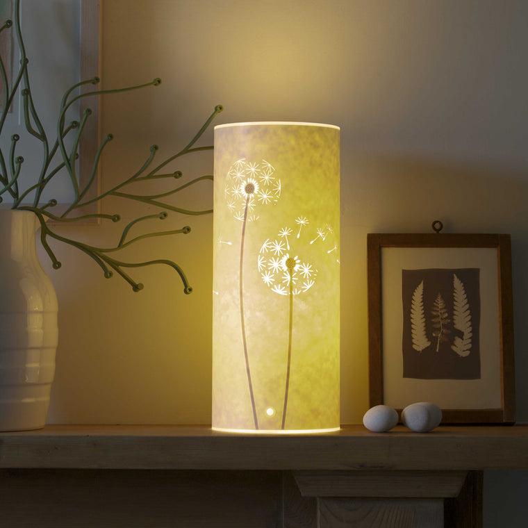 Small Cylindrical Table Lamp - Dandelion Clock