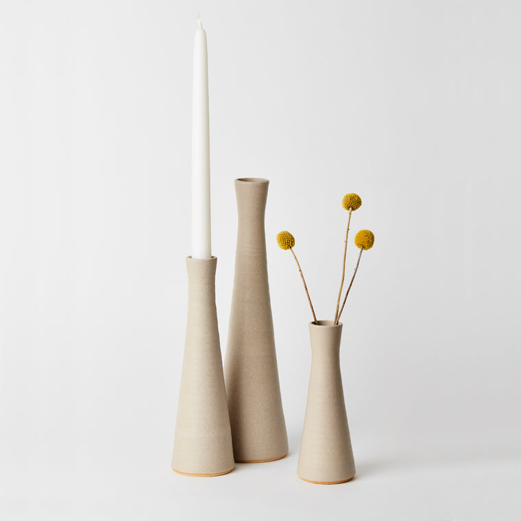 Tone Von Krogh Candlestick - Light Grey