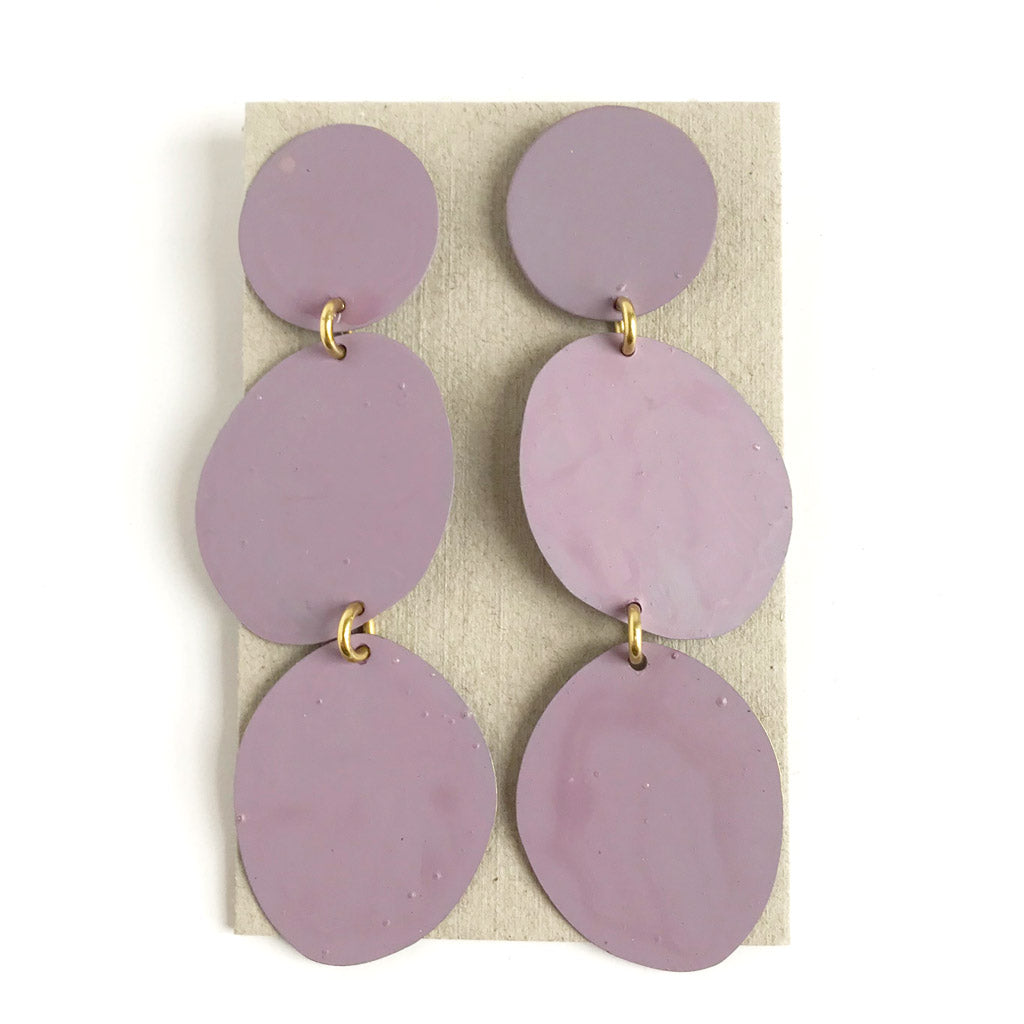 Three Pebbles Earrings - Lavender