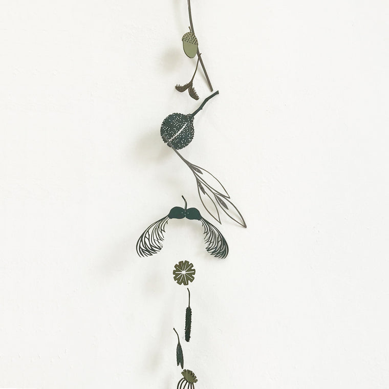 Tiny Treasures Hanging Decoration - Blue, Green & Grey