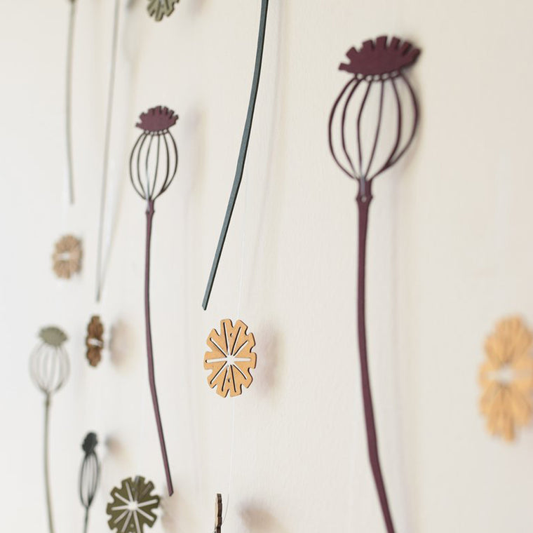 Tiny Treasures Poppy Seed Hanging Decoration - Multicoloured