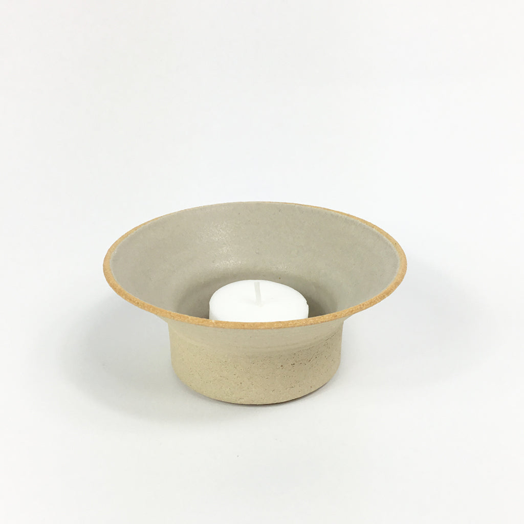 Tea Light Holder - Light Grey