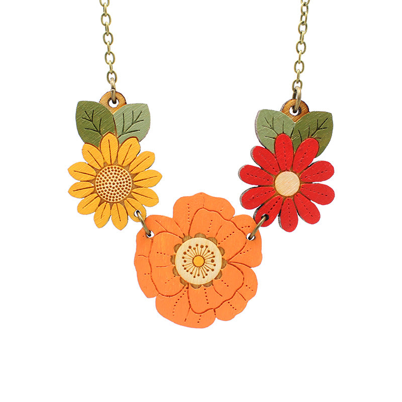 Autumn Wildflowers Necklace