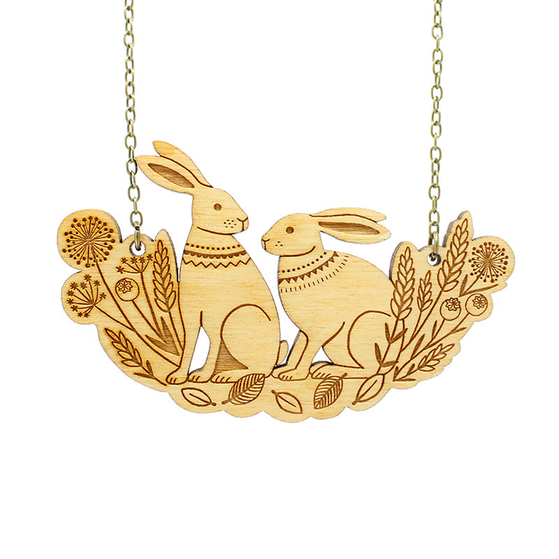 Spring Hares Necklace