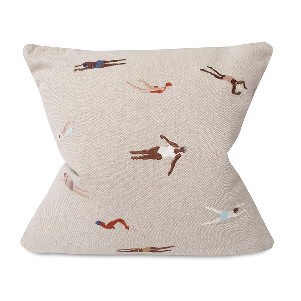 Cushion - Embroidered Swimmers