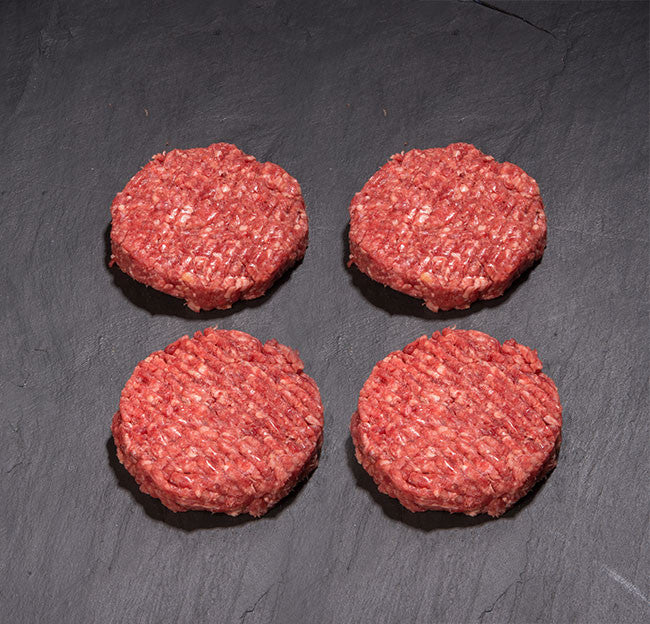 7oz steak burger (pack of four)