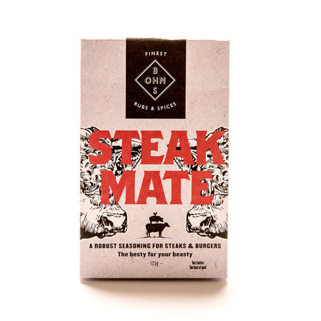 Steak Mate seasoning for steaks & burgers