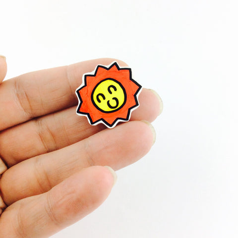 Little sun pin badge