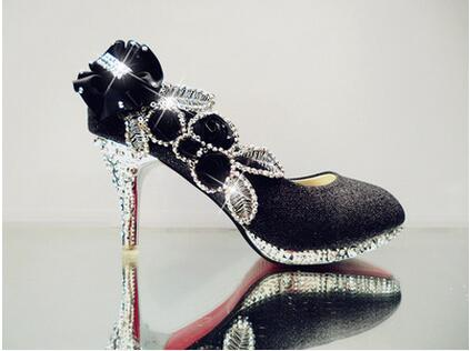 f0a67113cf Glitter Gorgeous Wedding Bridal Evening Party Crystal High Heels Women  Shoes Pumps Bridal Shoes