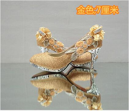 Glitter Gorgeous Wedding Bridal Evening Party Crystal High Heels Women Shoes Pumps Bridal Shoes
